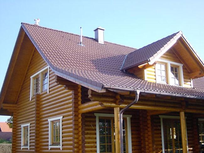 Металлическая кровля для деревянного дома